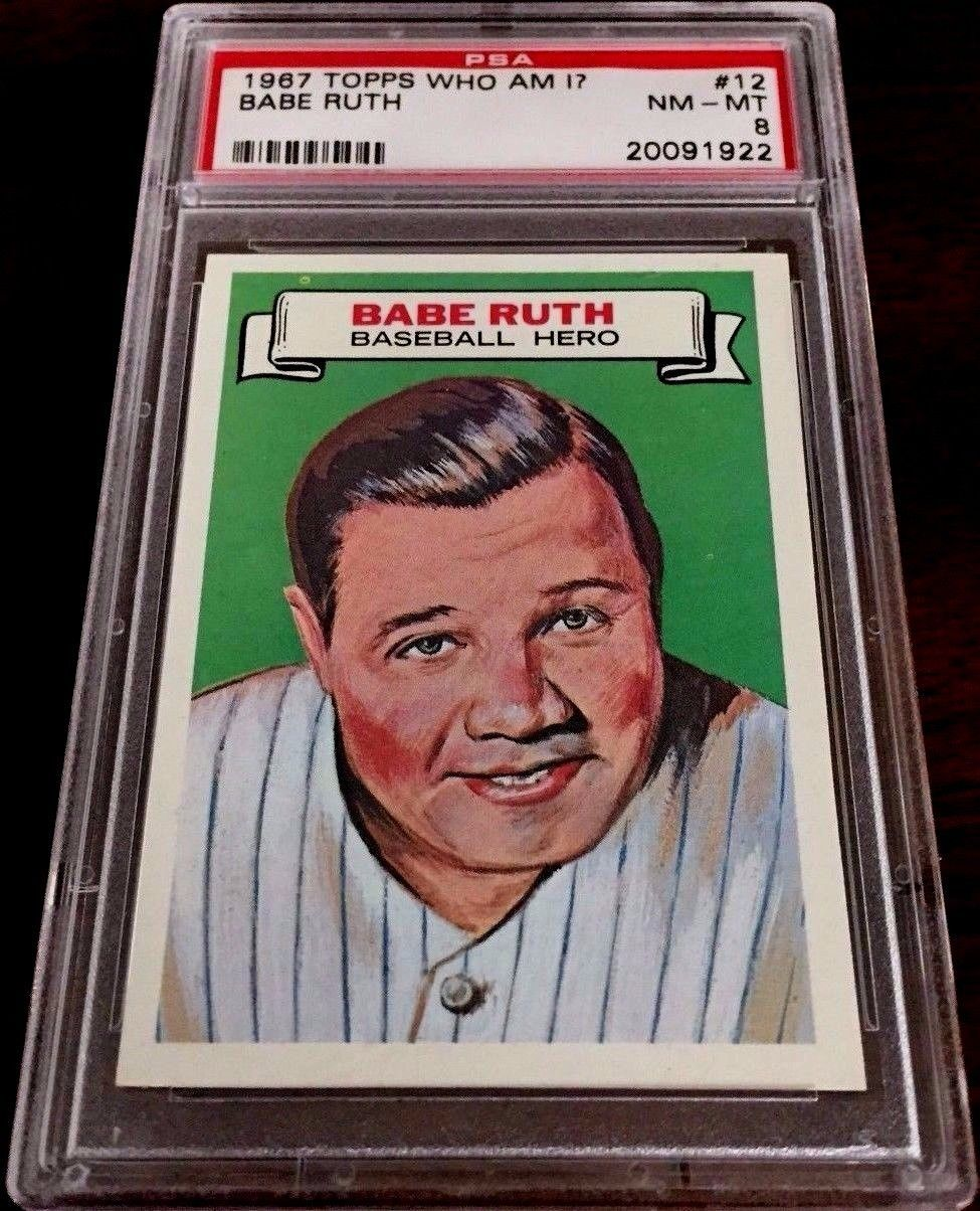 1967 topps who am i babe ruth 12 psa 8 nmmt