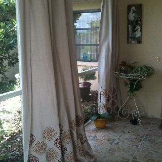 Marvelous Drop Cloth Curtains For Outdoor