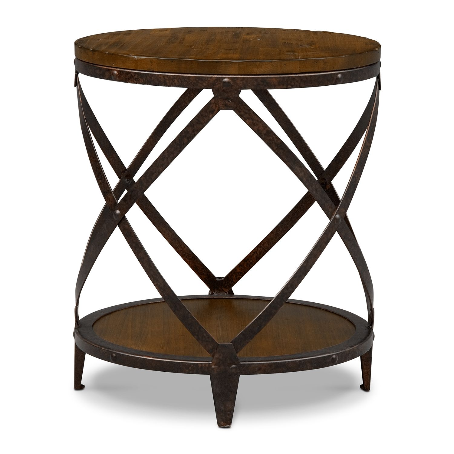 249 American Signature Accent And Occasional Furniture Shortline Round End Table