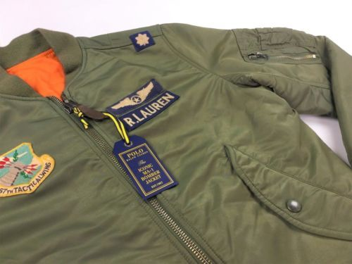 Polo-Ralph-Lauren-Men-MA-1-Military-Army-US-Air-Force-Flight-Bomber-Pilot- Jacket 6277f03a4cb4