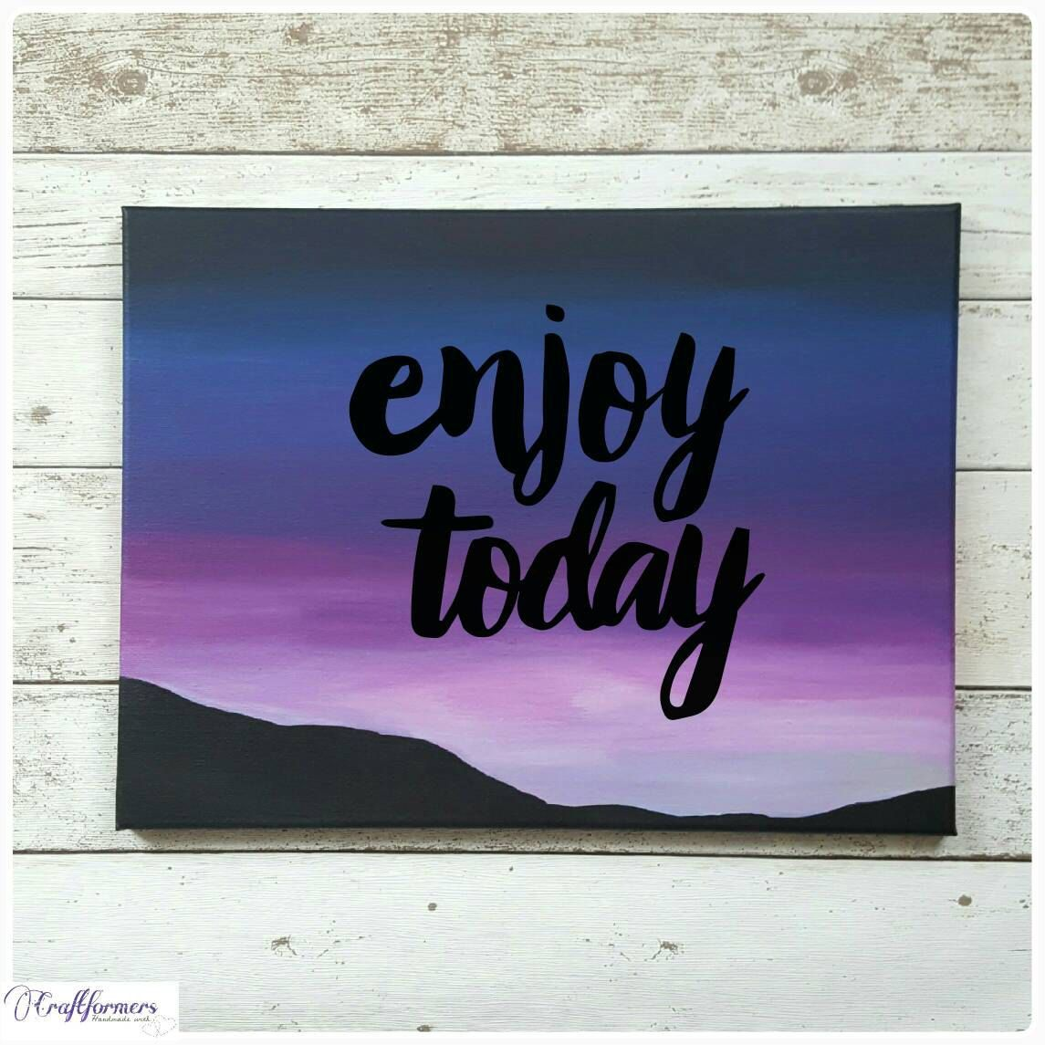 Painting Quotes Canvas Quotes Landscape Silhouette Painting Canvas Wall Art