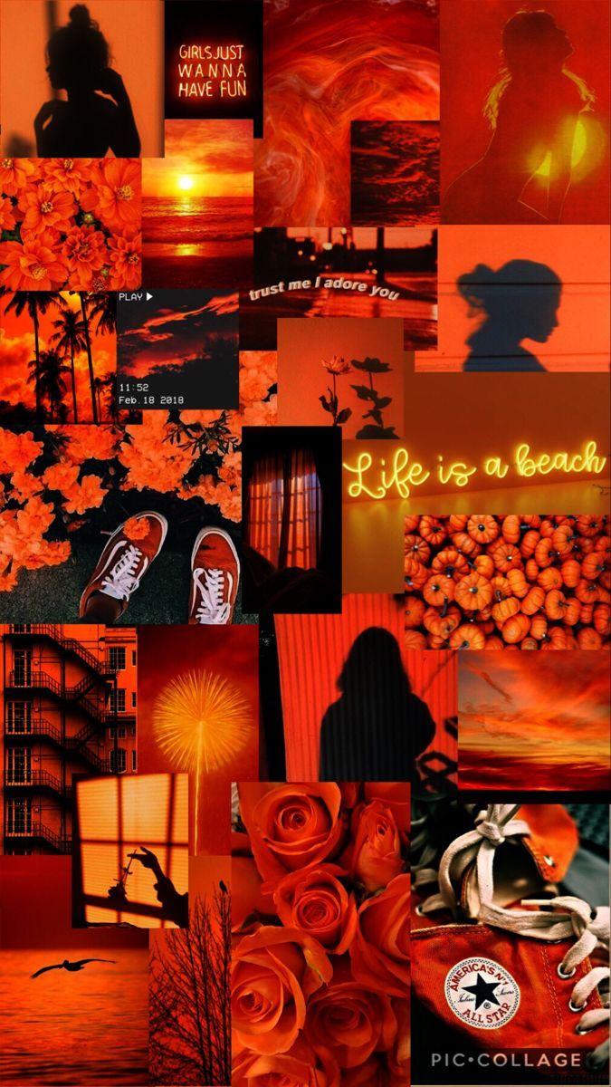 Orange Aesthetic Wallpaper