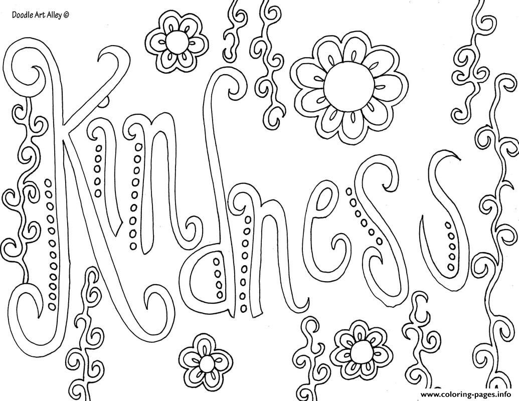 Showing Kindness Coloring Pages Printable Bible Coloring Pages Quote Coloring Pages Coloring Pages