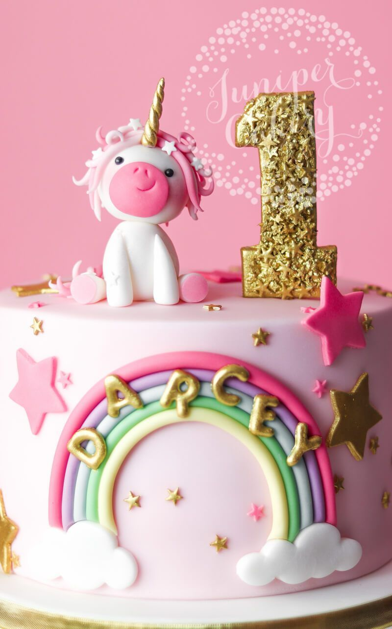 Magically Adorable Pretty In Pink Unicorn Birthday Cake Unicorn Birthday Cake 1st Birthday Cakes Baby Birthday Cakes
