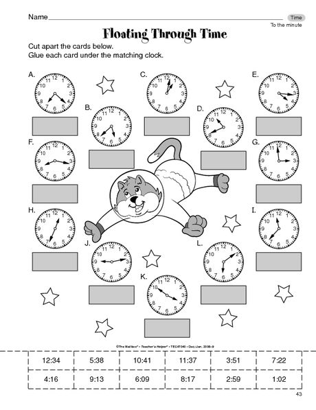 Math Worksheet: time to the minute | Time | Pinterest | Grundschulen ...
