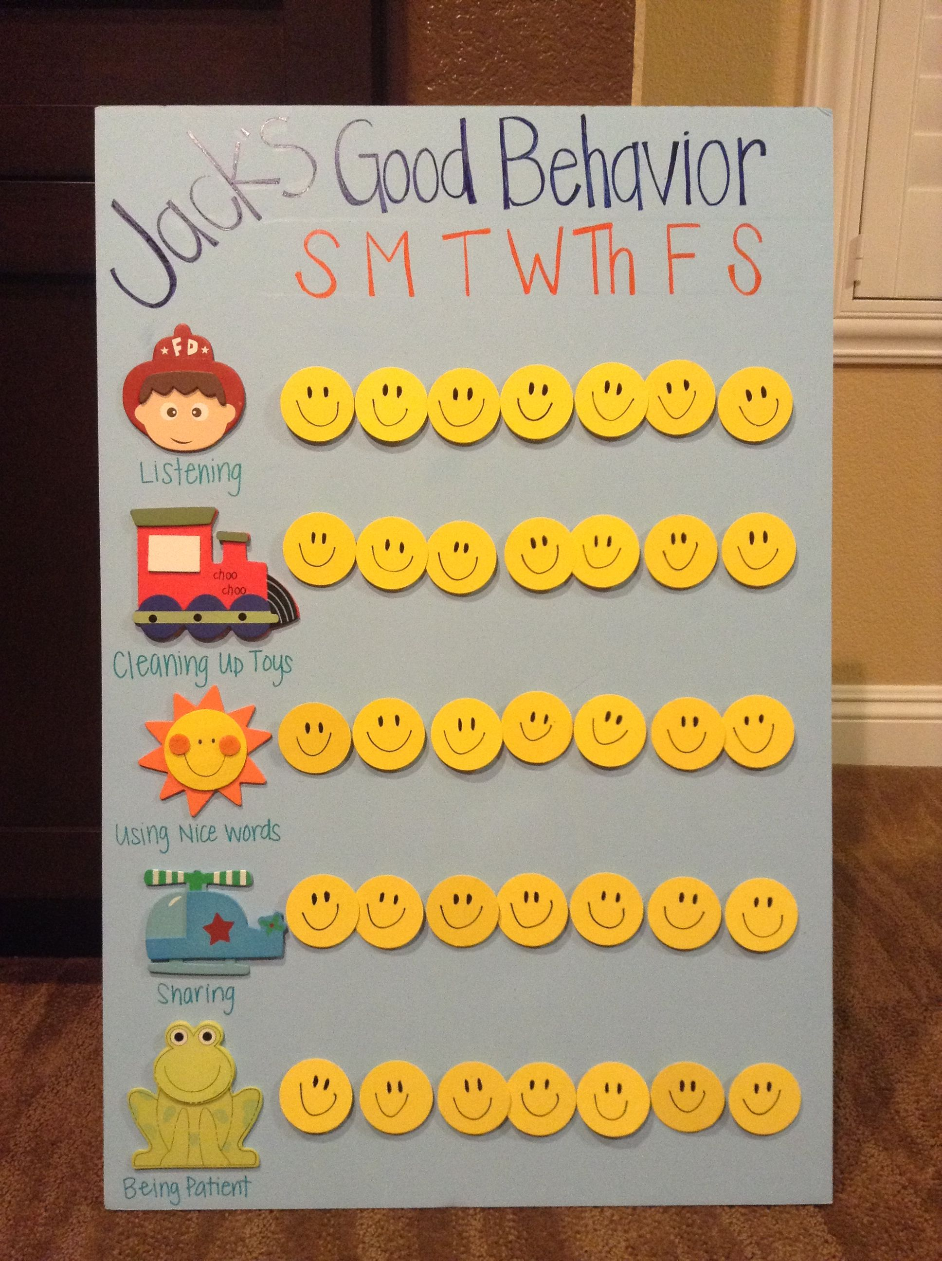 Behavior Board Chore Chart Etsy Shop Funhappymom Worked