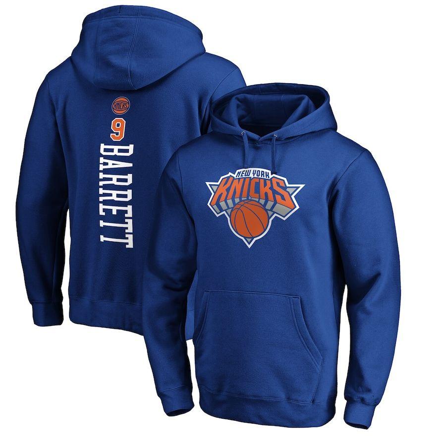 Men S Fanatics Branded R J Barrett Blue New York Knicks Team Playmaker Name Number Pullover Hoodie Hoodies Sport Fitness Pullover Hoodie