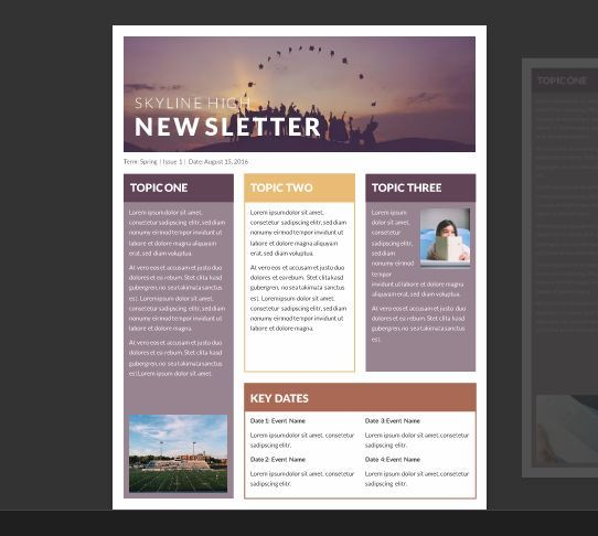Company Newsletter Design Layout Flyer Template RoyaltyFree Stock