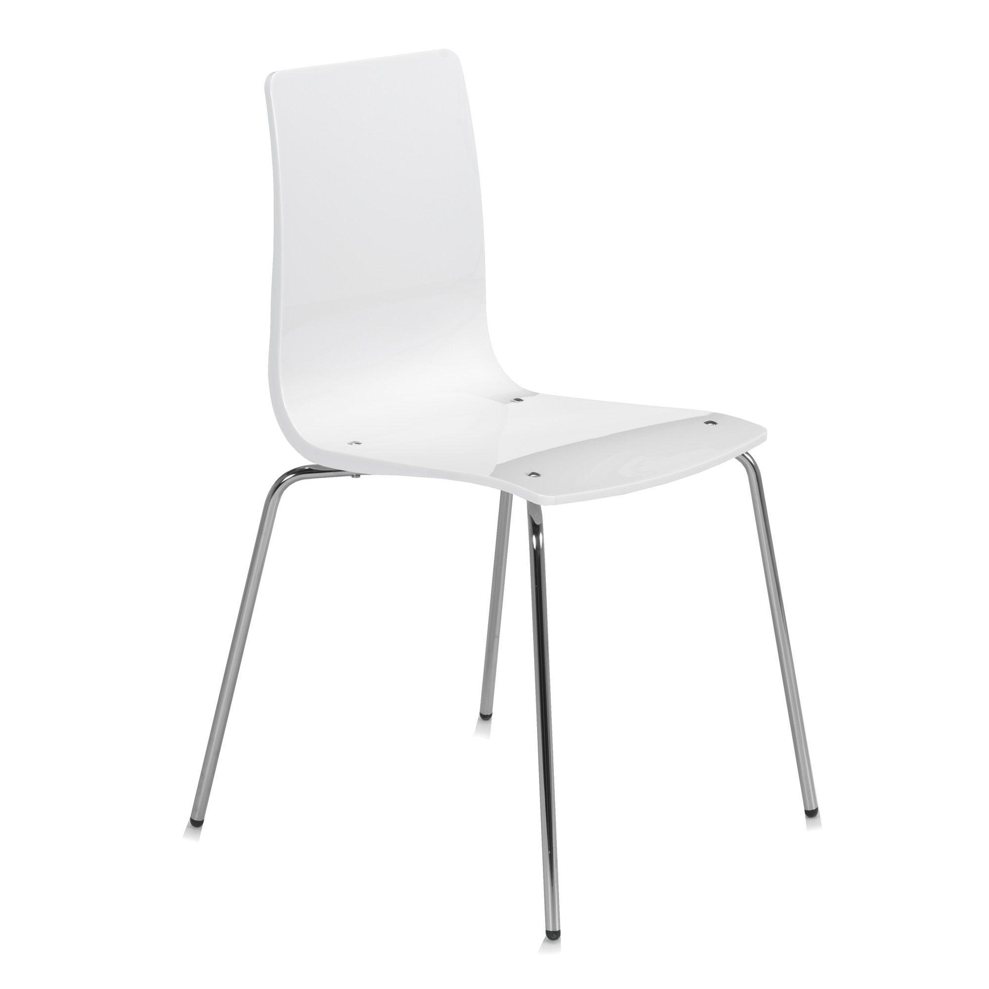 Chaises Alinea Salle A Manger: Chaise Design Blanche Blanc
