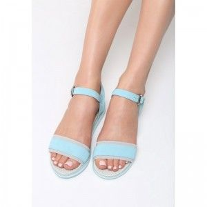 308ffccd70299 Elegantné sandále modrej farby (1)   Dámske sandále   Sandals ...