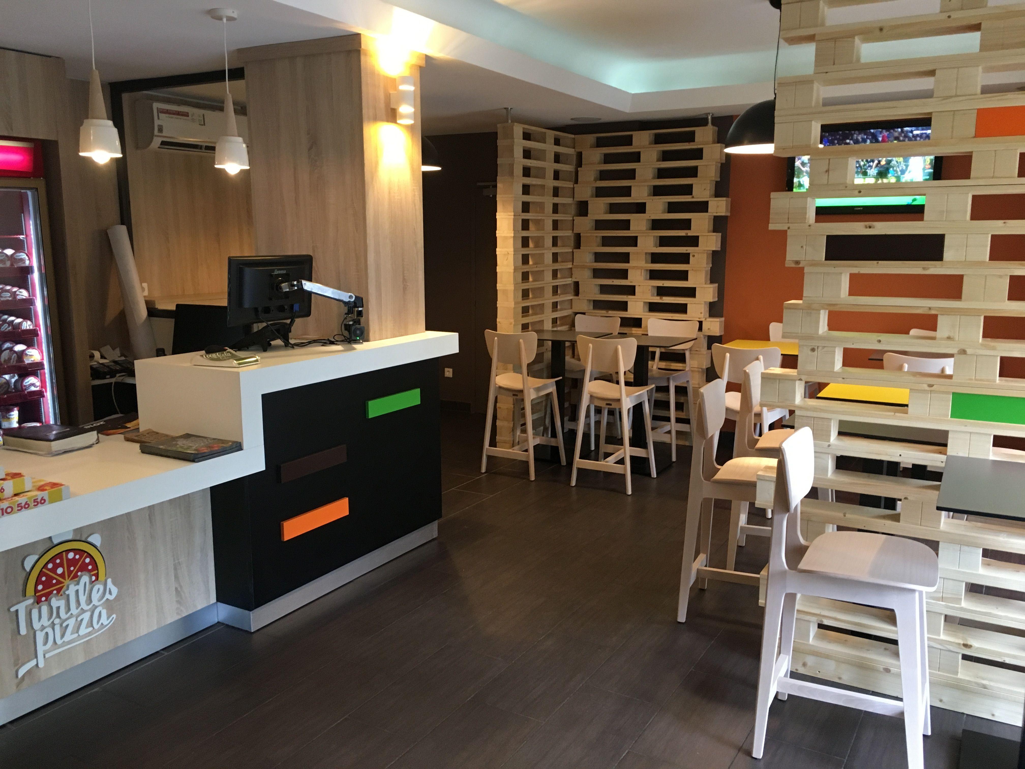 Realisation Mobilier Restauration Rapide Turtles Pizza A Beauvais Restauration Rapide Restaurant Rapide Restaurant