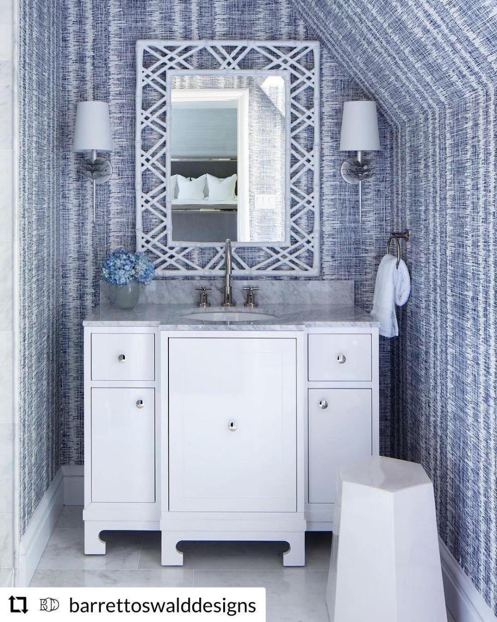 Thibaut Danube Ikat Wallpaper Google Search Gray Bathroom Decor Best Bathroom Designs Bathroom Wallpaper