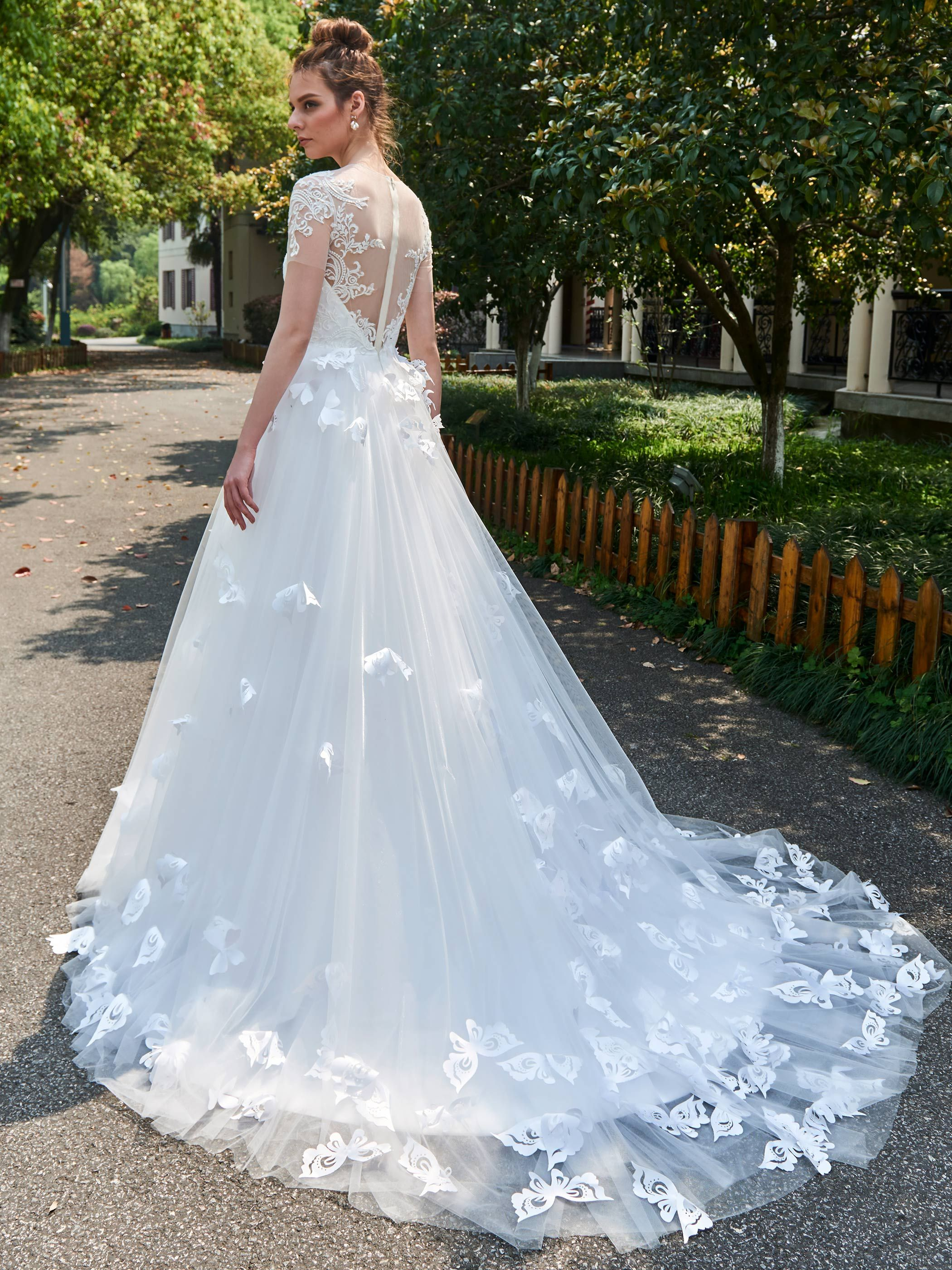 Magnificent Wedding Dresses Short Sleeves Crest - All Wedding ...