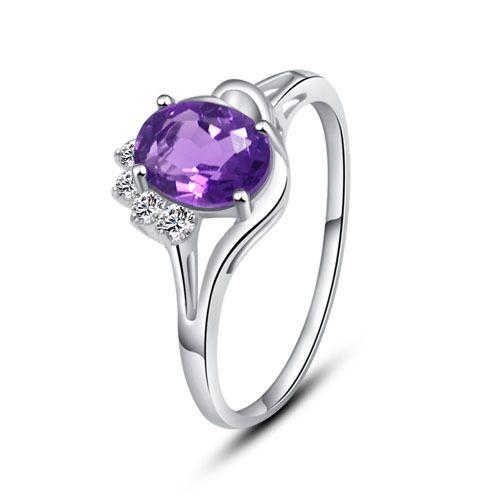 amethyst silver ring - Google Search