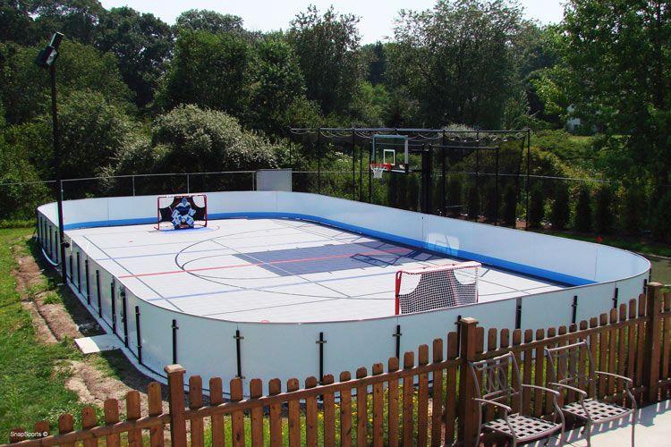 Hockey Basketball Court Rink Backyard Driveway Sports