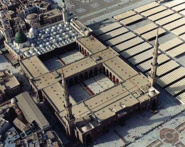 Masjid al-Nabawi ( mosque du prophete) avant 1900....
