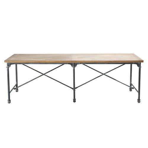 Esstisch Aus Massivem Mangoholz Und Metall B Cm Mein Haus - Table pliante 240 cm pour idees de deco de cuisine