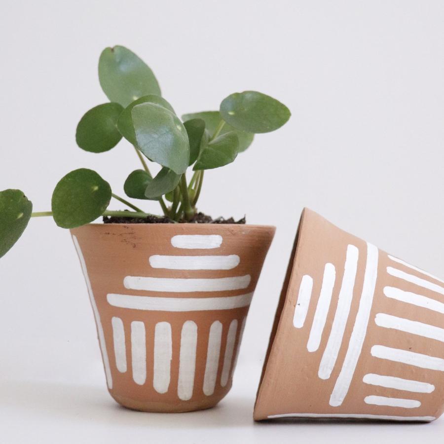 Terracotta Pyramid Line Drawing Pot Plant Pot Diy Plant Pot Design Painted Pots Diy