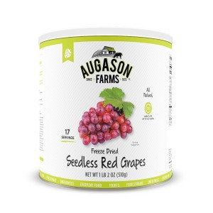 Freeze Dried Grapes – Red & Seedless, Gluten-Free #10 Can | Augason Farms Gluten-free