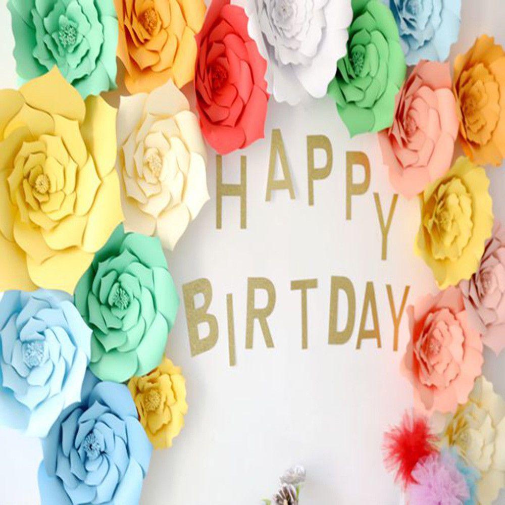 AUD  Cm Diy Paper Flowers Backdrop Decor Kid Birthday