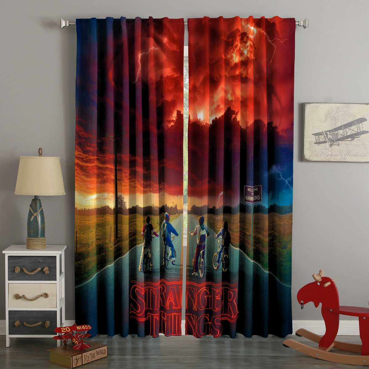 Stranger Things Window Curtains