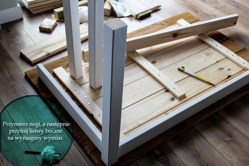 Diy Stol Z Desek Wlasnorecznie Zrobiony Home On The Hill Blog Lifestylowy Wnetrza Inspiracje Kuchnia Diy Wood Woodworking Decor