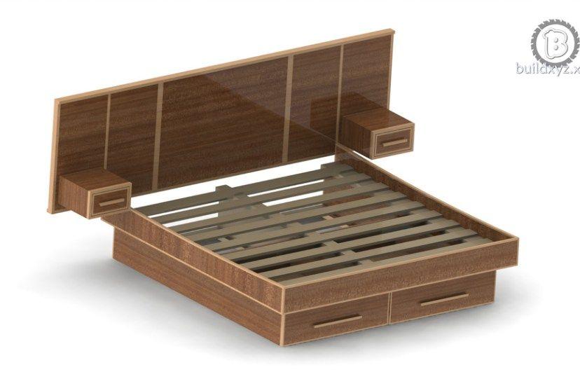 make a mid century modern bed frame build plans build tutorial rh pinterest com