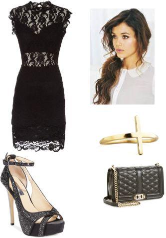 The classy look  Items:  Nightcap - Dixie Lace Cutout Mini Dress, Nightcap - $310.00, http://www.shopstyle.com/action/apiVisitRetailer?id=458310403&pid=uid2724-23978418-92 INC International Concepts Women's Minxe2 Platform Evening Pumps, INC International Concepts - $79.99, http://www.shopstyle.com/action/apiVisitRetailer?id=462381920&pid=uid2724-23978418-92 Rebecca Minkoff 'Love' Crossbody Bag, Rebecca Minkoff - $295.00…