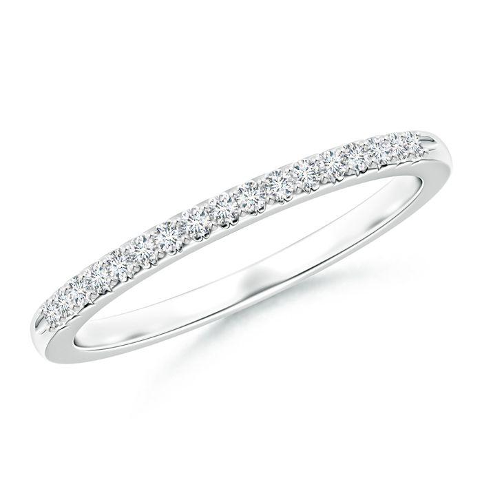 Angara Twin-Row Diamond Criss-Cross Eternity Wedding Band 8QGSXrsFPZ
