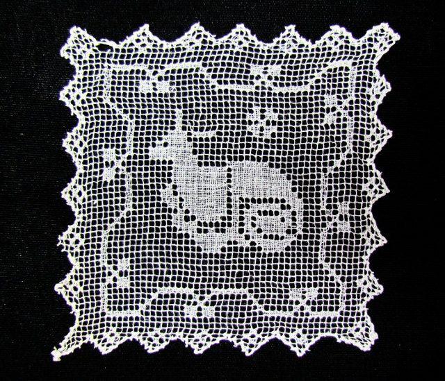 Vintage filet lace motifs set of 3 lace by mathildasattic on Etsy