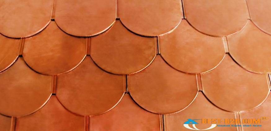 Hot Item Fish Scale Copper Roofing Tile Copper Roof Metal Roof Roofing