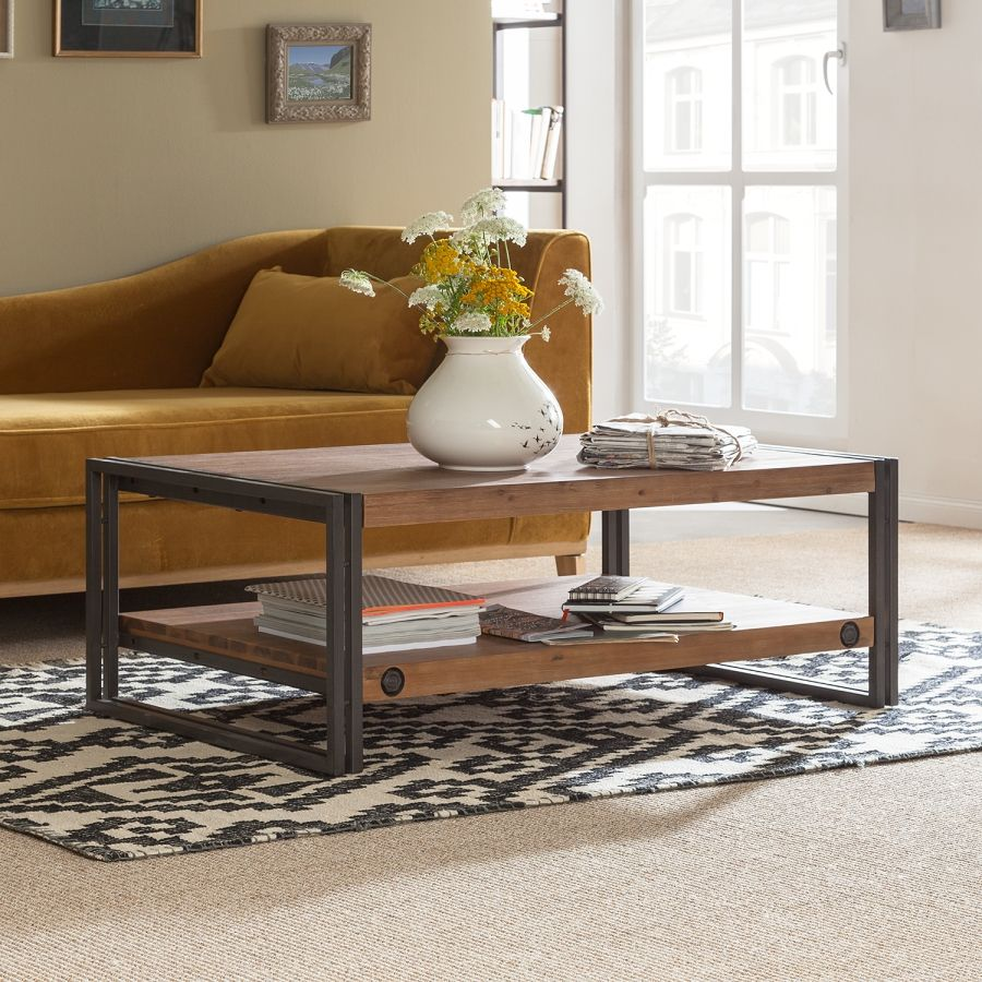 Couchtisch Akazie Metall Couchtisch Manchester Iii Industrial Table Industrial And House