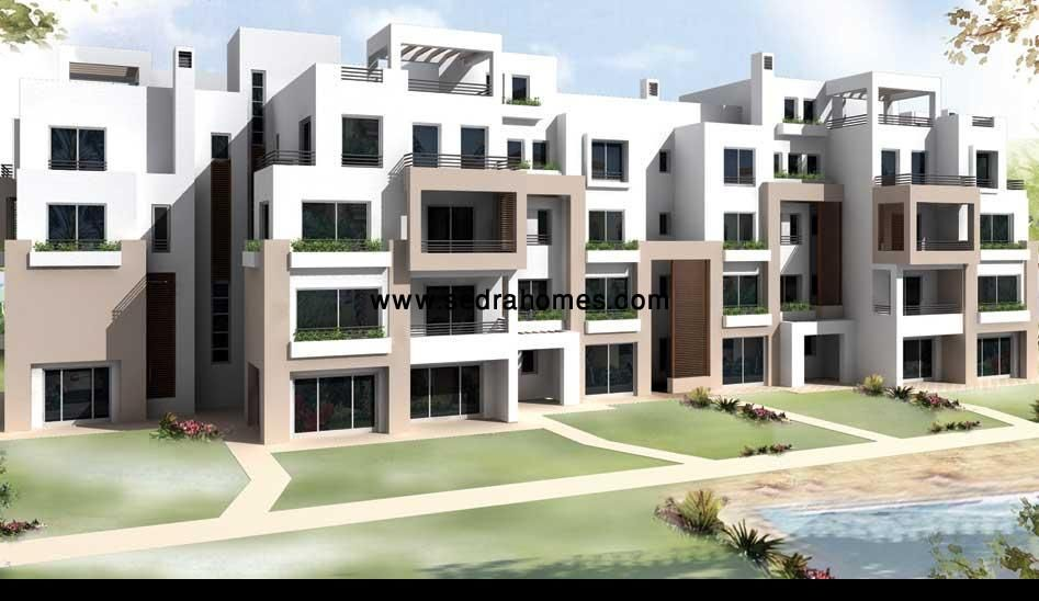 Palm Hills Village Gate Apartment View Pool and land scape | Sedra