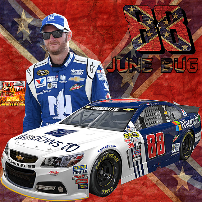 Dale Earnhardt Jr Conderdate Flag June Bug Full Wallpaper Black Lightning Dale Earnhardt Jr Earnhardt Jr Jr Motorsports