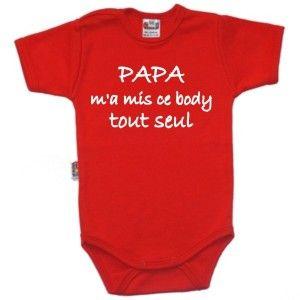 aa42cf1110b65 Body bébé message : PAPA m'a mis ce body tout seul | Bodies bébé ...