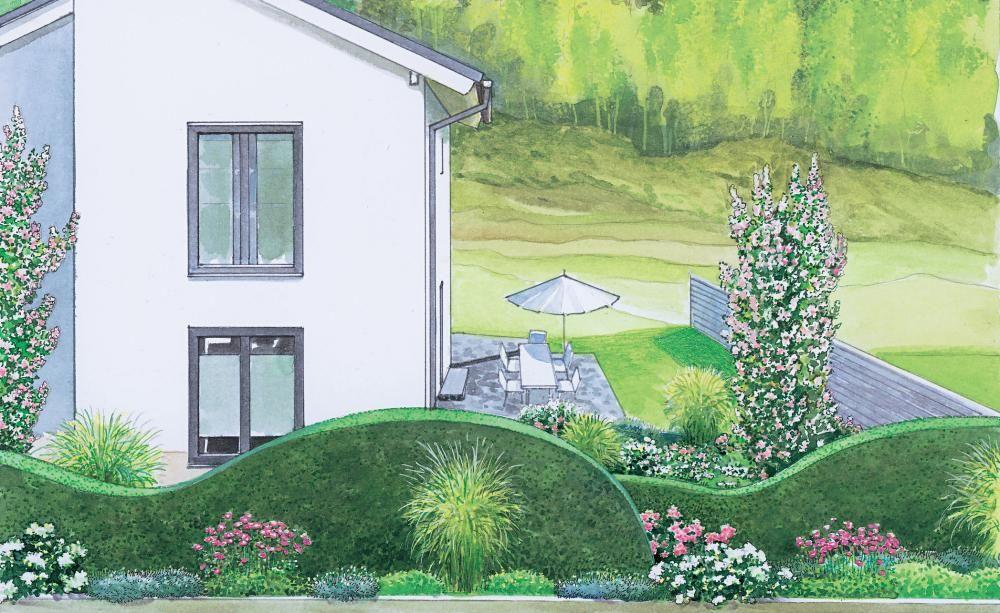 1 Garten 2 Ideen Attraktiver Vorgarten Mit Sichtschutz Vorgarten Gartengestaltung Asiatischer Garten