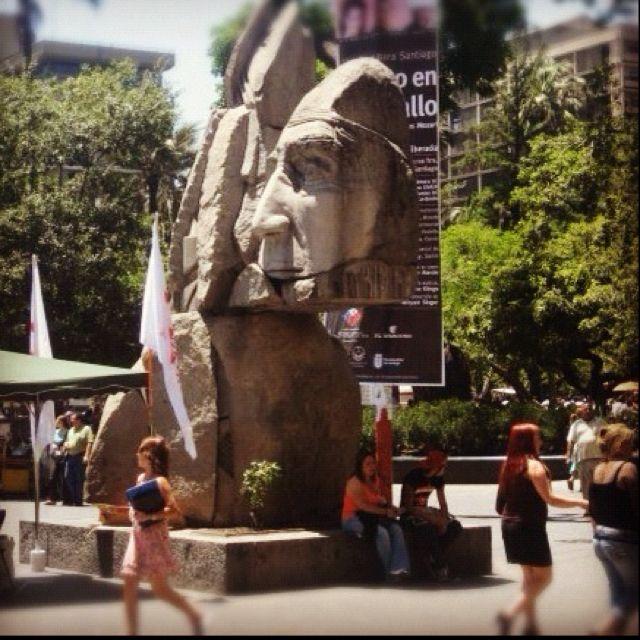 Mapuche Sculpture - Santiago, Chile