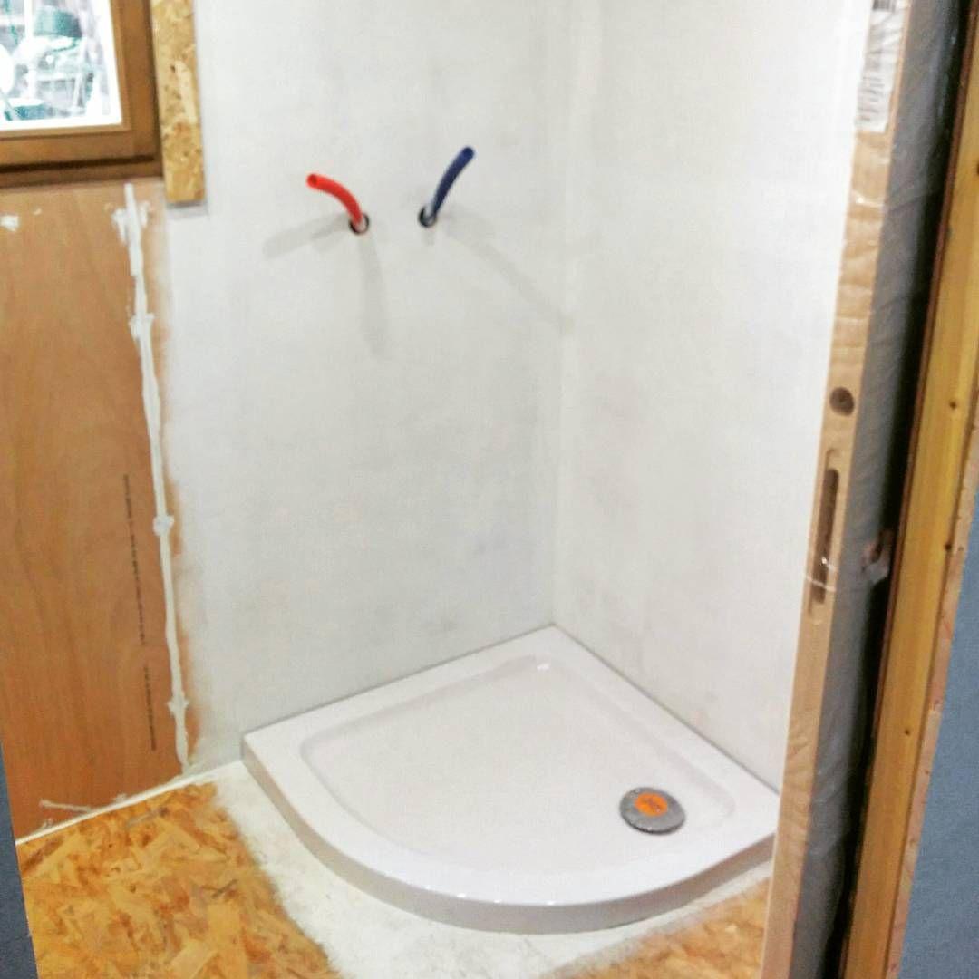 mise en place du receveur de douche peinture hydrofuge pour les murs afin dviter - Peinture Hydrofuge Salle De Bain