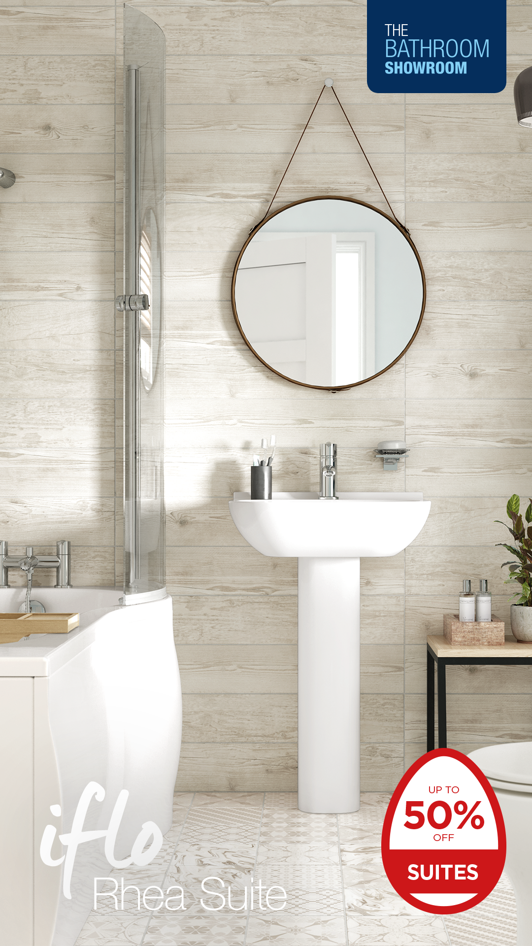 The Bathroom Showroom Are Offering Up To 50 Off Suites This Easter Sale Make Your Dream Bathroom A Reality For Half The Price Bathroom Showrooms Next Bathroom Bathroom