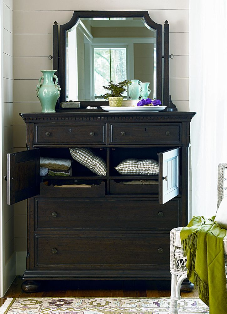 Universal Furniture Paula Deen Down Home Dressing Chest With Mirror In Moles Available At Furnitureland South