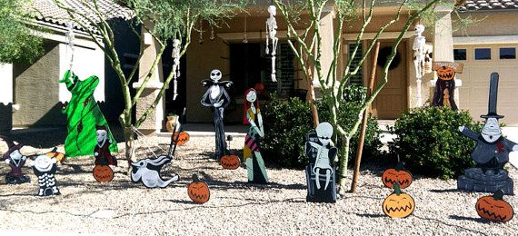 nightmare before christmas lawn decorations by holidaylawncutouts
