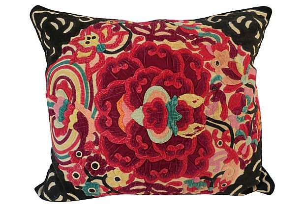 Hill Tribe  Appliqu�d  Pillow on OneKingsLane.com