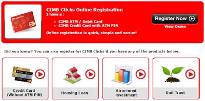Register For Www Cimbclicks Com My Login Malaysia Internet Technology Financial Services Online Registration