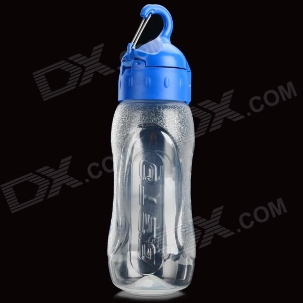 BETO WB-217 Portable Bike Cycling PP Water Bottle w/ Carabiner - Transparent   Blue (650ml) Price: $8.72