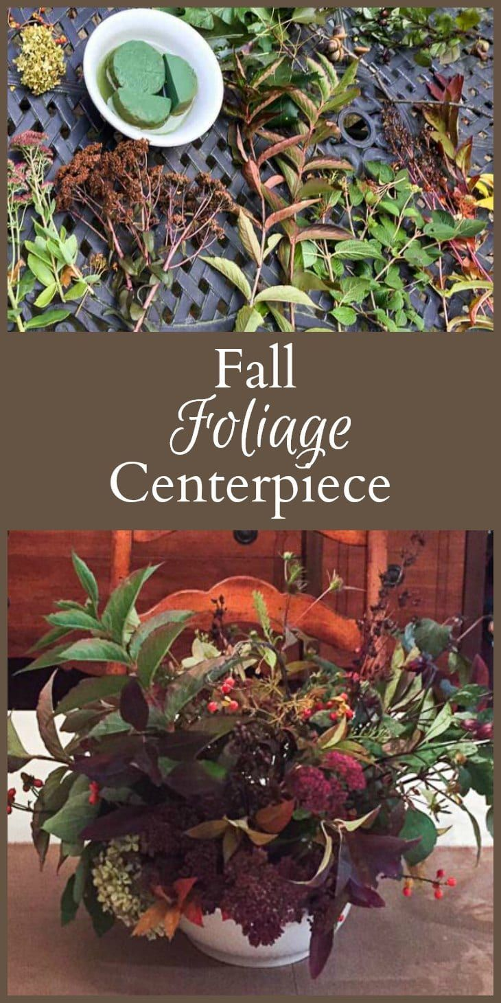 a fall centerpiece easily be made from plants and flowers in your