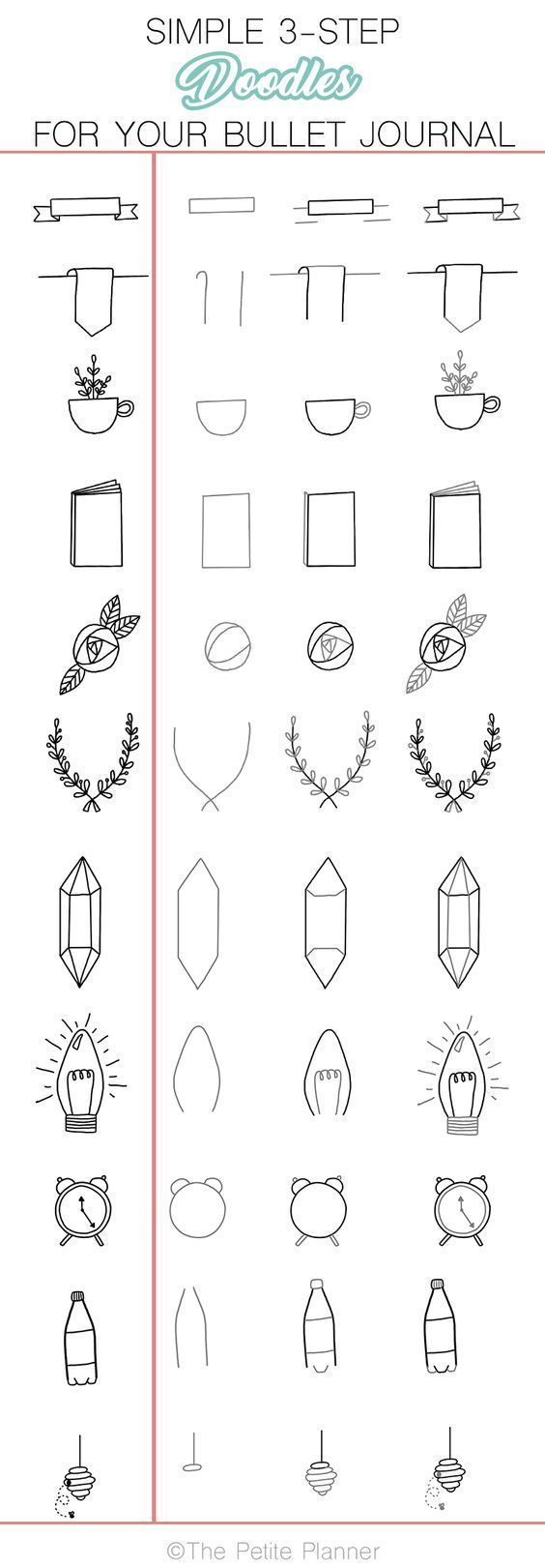 36 Simple Doodles You Can Easily Copy in Your Bullet Journal - Simple Life of a ...