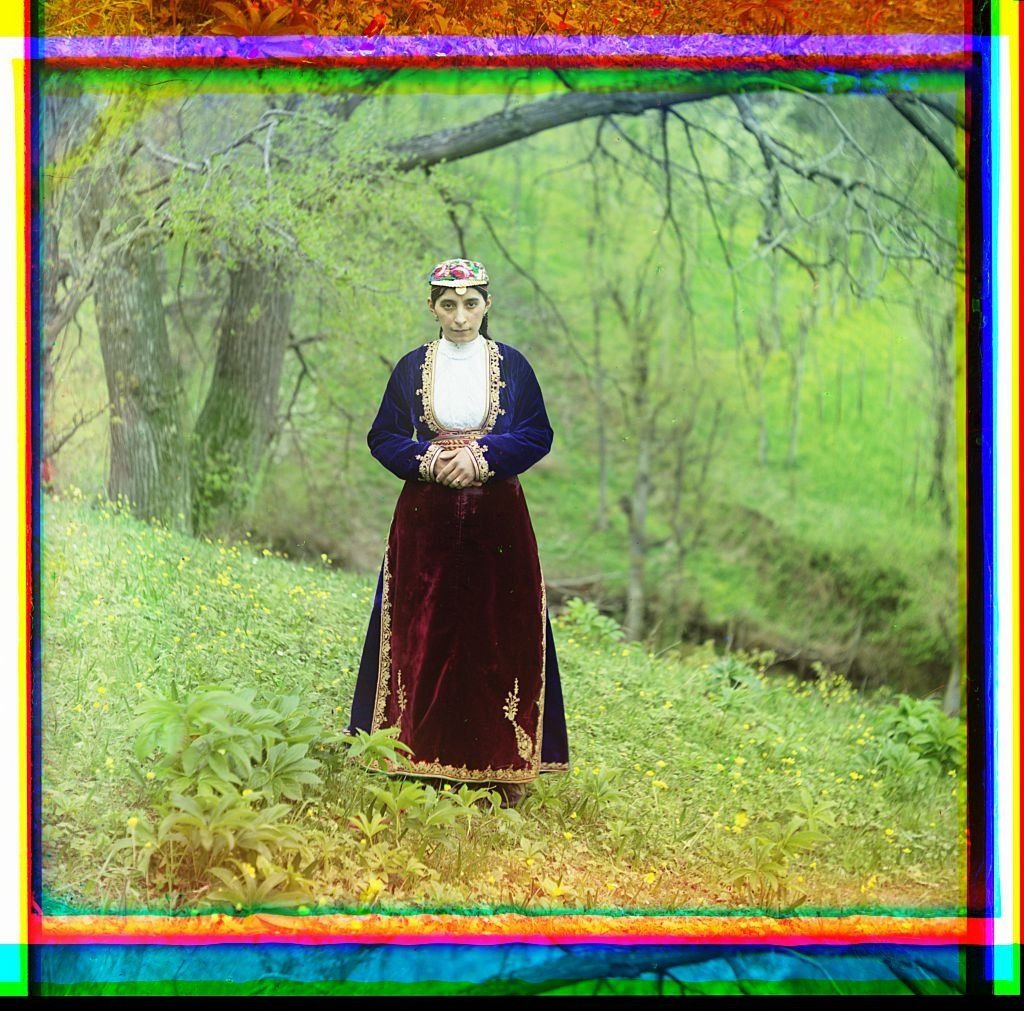 Armenian woman in national costume