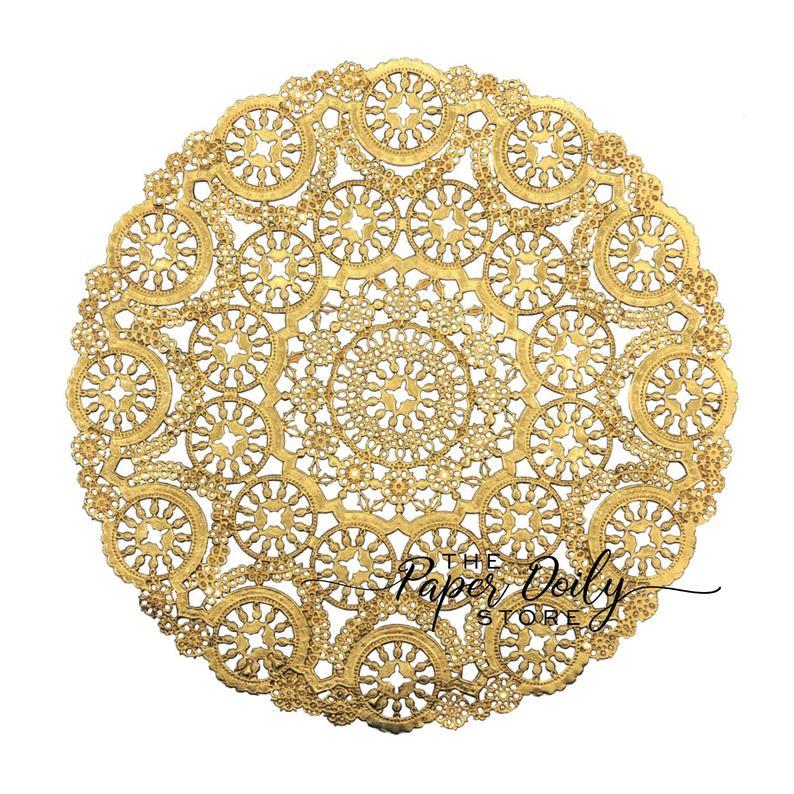 Gold Paper Doilies 50 12 Gold Metallic Medallion Etsy Paper Doilies Paper Lace Doilies Gold Paper