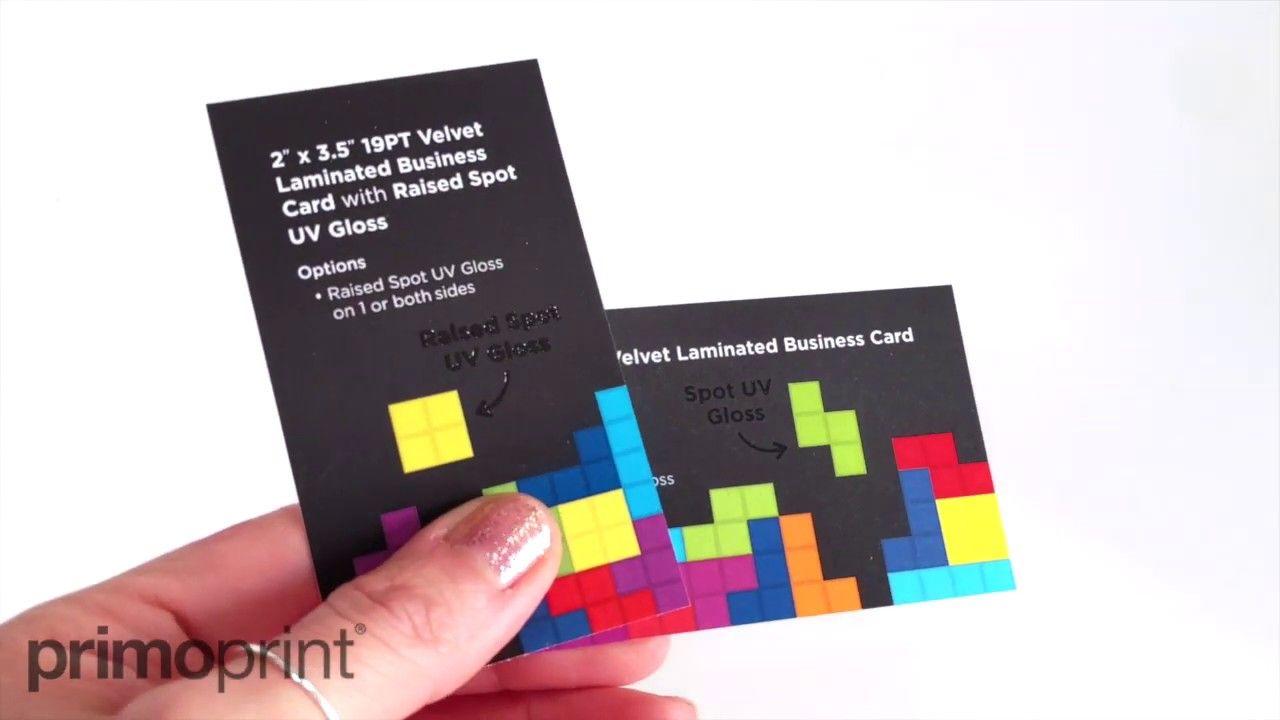 Raised Spot Uv Vs Spot Uv Business Cards Primoprint Spot Uv Business Cards Laminated Business Cards Spot Uv