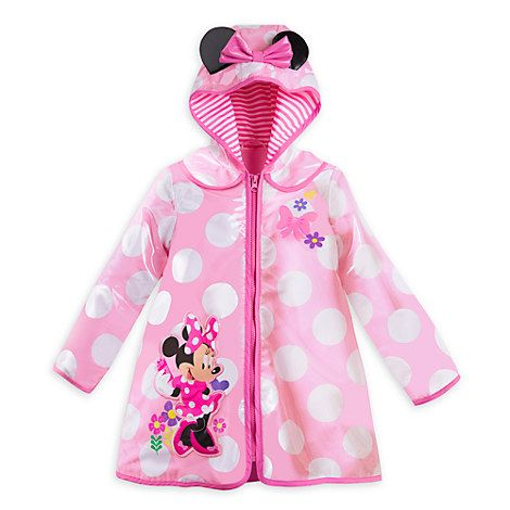 Western Chief Toddler Girls Disney Minnie Mouse Raincoat Jacket Minnie Dot Navy 5